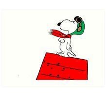 Baron Snoopy Art Print
