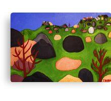 The Pinnacles Painting by Julia Hanna Canvas Print