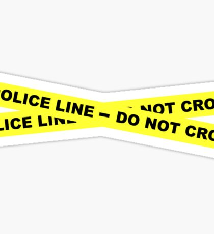 Police Line - Do Not Cross Sticker