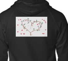 Michael&Fi Heart Sweatshirt-alt Zipped Hoodie