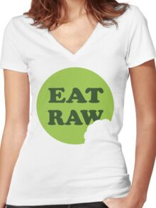Eat Raw Women's Fitted V-Neck T-Shirt
