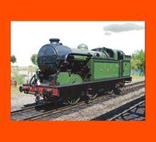 Vintage steam train in green  Kids Tee