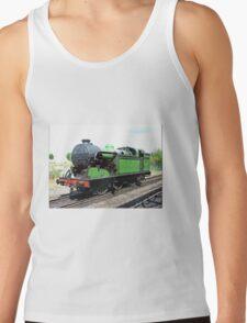 Vintage steam train in green  Tank Top