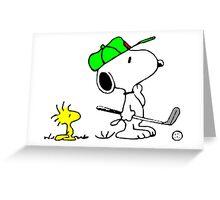 Snoopy on Golf Greeting Card