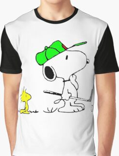 Snoopy on Golf Graphic T-Shirt