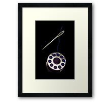 ☝ ☞THREADING NEEDLE WITH SPOOL☝ ☞ Framed Print