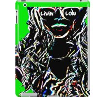 Livin Low Girl With Sunglassess-Lime Green iPad Case/Skin