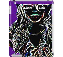 Livin Low Girl With Sunglassess-Purp iPad Case/Skin