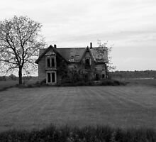 This Old House 11 Black And White Version by Barry W  King