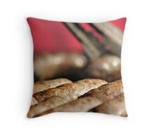 Turning the snags Throw Pillow