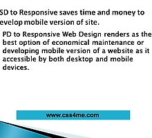 Money and time saved with PSD to Responsive for the development of mobile version of site by jennybrighton32