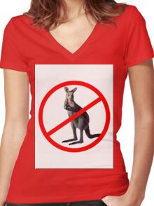 NO DRINKING Women's Fitted V-Neck T-Shirt