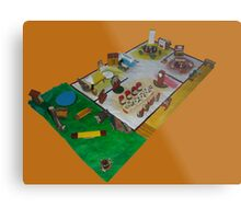 Lunch box dolls house Metal Print