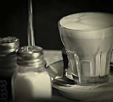 Coffee and condiments by Karen Tregoning