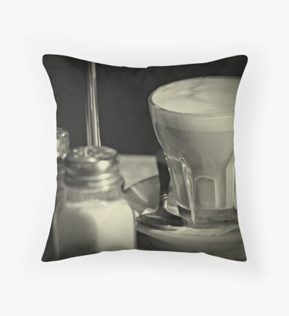 Coffee and condiments Throw Pillow