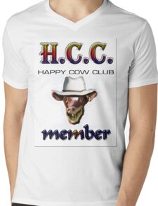 H.C.C. MEMBER Mens V-Neck T-Shirt