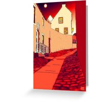 Dysart: Scottish Town digital drawing Greeting Card