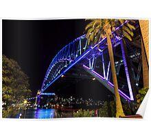 Sydney Harbour Bridge lights Poster