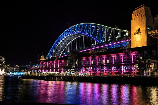Sydney Harbour Bridge at Night by Michael Clarke