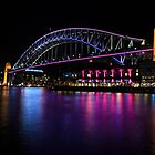 Sydney Harbour Bridge at Night 2 by Michael Clarke