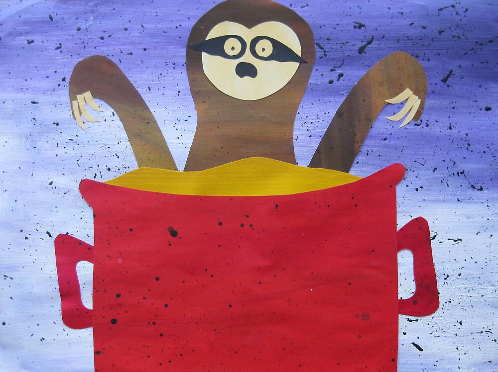 Sloth in a broth- Animal Rhymes - created from recycled math books by cathyjacobs