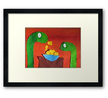 Snakes with Corn Flakes Framed Print
