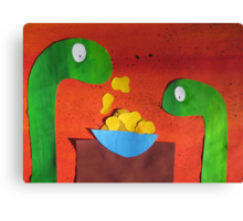 Snakes with Corn Flakes Canvas Print