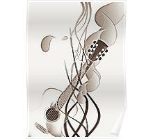 sketchy guitar Poster