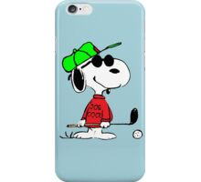 Joe Cool Swinging the Golf Club iPhone Case/Skin