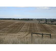 Evenly ploughed, Auburn, S.A. Photographic Print