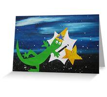 Lizard Wizard Greeting Card