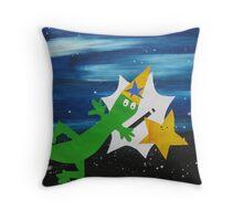 Lizard Wizard Throw Pillow