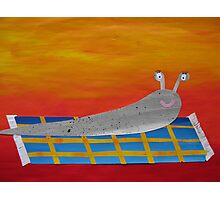 Slug on a Rug- collage with math books- rhymes for kids Photographic Print