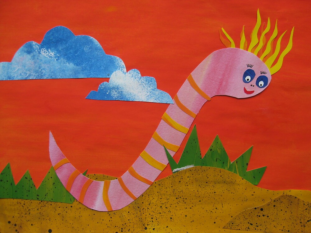 Worm with a Perm - Animal Rhymes - created from recycled math books by cathyjacobs
