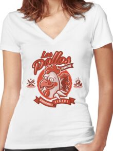 The Chicken Brothers Women's Fitted V-Neck T-Shirt