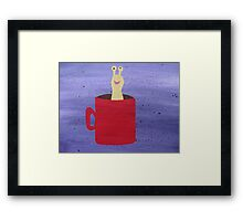 Slug in a Mug - Animal Rhymes - created from recycled math books Framed Print