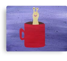 Slug in a Mug - Animal Rhymes - created from recycled math books Canvas Print