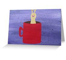 Slug in a Mug - Animal Rhymes - created from recycled math books Greeting Card