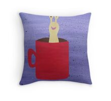 Slug in a Mug - Animal Rhymes - created from recycled math books Throw Pillow