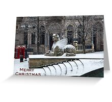 Birmingham Victoria Square Christmas Card Greeting Card