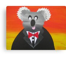 Koala at a Gala- Animal Rhymes - created from recycled math books Canvas Print