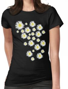 White Flower - daisy like Womens Fitted T-Shirt