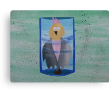 Galah in a Jar - Animal Rhymes - created from recycled math books Canvas Print
