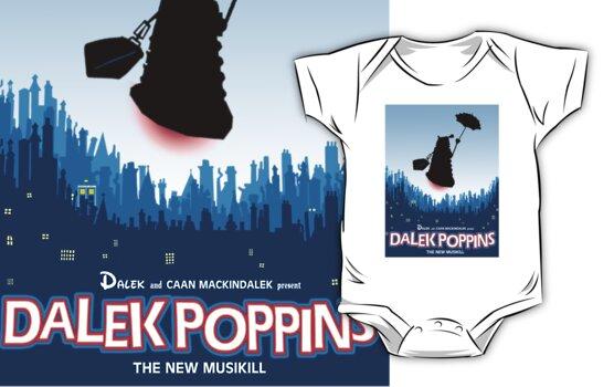 Dalek Poppins T-Shirt by ToneCartoons