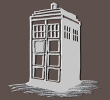 Dr Who's Tardis - Grey Baby Tee