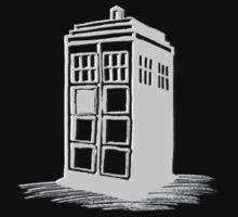 Dr Who's Tardis - Grey Kids Clothes