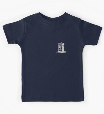 Dr Who's Tardis - Grey Kids Tee
