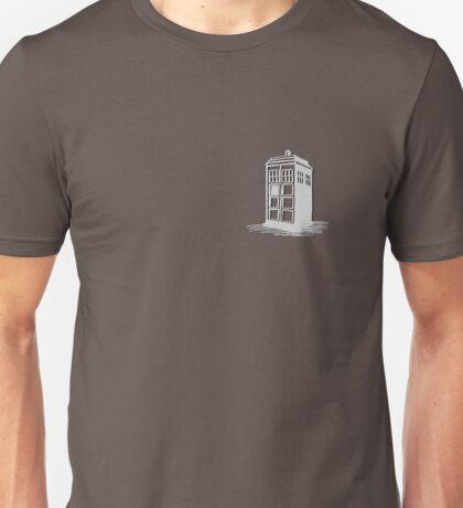 Dr Who's Tardis - Grey Unisex T-Shirt