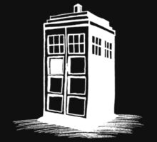 Dr Who's Tardis - White by Gabrielle Boucher