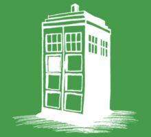 Dr Who's Tardis - White Kids Tee